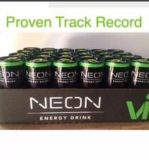 NEON Body By Vi Best Tasting Energy Drink 24 Cans, Cool Glow, Exp 8/18