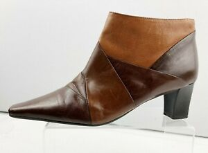 Womens Ladies CLARKS Size UK 6 - EU 39 Tan/Brown Leather Heeled Ankle Boots