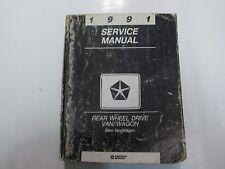 1991 Dodge Ram Van Wagon Rwd Service Shop Repair Workshop Manual Oem Damaged