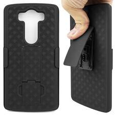 Cell Phone Case For LG V10 H968 With Belt Clip Kickstand Holder Hard Black Cover