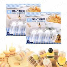 8Pc Canapé Cutter ~PARTY ESSENTIAL~ Mini Cake/Sandwich Maker Starter/Dessert