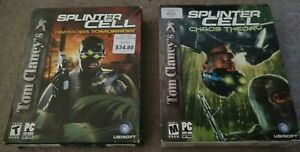 Tom Clancys Splinter Cell Pandora Tomorrow, Chaos Theory HTF Late Era Big Box PC