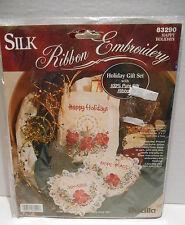 Bucilla 1995 Silk Ribbon Embroidery Kit #83290 Holiday Gift Set ~ New & Sealed