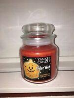 Yankee Candle 14.5oz 411g Medium Jar Cider Web Halloween Deerfield RARE VHTF