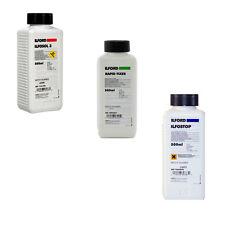 Ilford Black & White Film Processing Chemical Kit - Ilfosol, Rapid Fix, Ilfostop