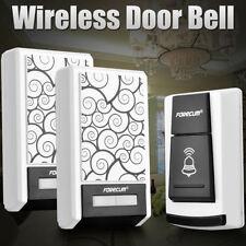 36 Chimes Songs Wireless Doorbell Waterproof Remote Control 2 Receiver Door Bell