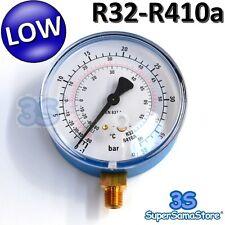 3S MANOMETRO BASSA PRESSIONE SCALA GAS REFRIGERANTE R32 R410A CLIMATIZZATORE New