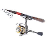 Professional Carbon Fiber Telescopic Fishing Rod Travel Spinning Rod Pole 2.1m N