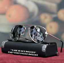 New Mens Sunglasses Mirrored Lens Metal Pilot Style Fashion Design Driving Gold