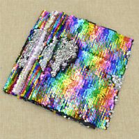29x21cm A4 Rainbow Reversible Sequin Fabric For Cushion Clothes Bag DIY Craft