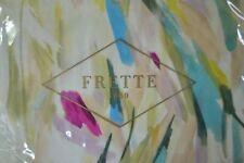 $399+tax FRETTE 1860 BRUSHSTROKE ABSTRACT FLOWER SATEEN STND 2 SHAMS SET ITALY