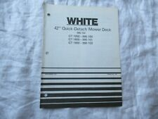 """White 42"""" mower deck operator's manual parts list catalog for GT lawn tractor"""