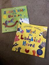 Julia Donaldson Sugarlump And The Unicorn / What The Ladybird Heard Books