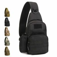 Men Molle Tactical Sling Chest Bag Assault Pack Messenger Shoulder Bag Backpack