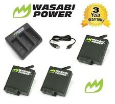 Wasabi Power Hero 6 for GoPro Hero6 Battery X 2 (1220mah) Double Go Pro Charger
