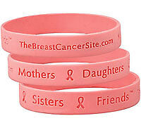 Breast Cancer Mothers Sisters Friends Wristband Ribbon