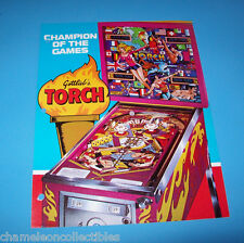 Gottlieb 1980 TORCH Original Flipper Game Pinball Machine Promo Sales Flyer