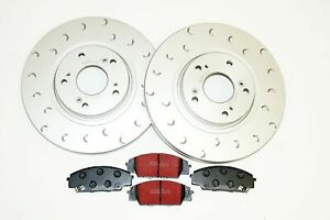 Front HALO Brake Discs and EBC Pads to fit Honda Civic Type R EP3 FN2