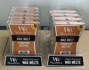 Lot of 9 NEW WoodWick Pumpkin Butter Highly Fragranced Wax Melt 3 Oz Each