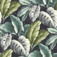 Tapete Botanical BA2404 Vlies Palmen Blätter Floral Urwald grün blau grau petrol