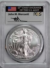 2018 $1 Silver Eagle PCGS MS70 First Day of Issue Mercanti Signature