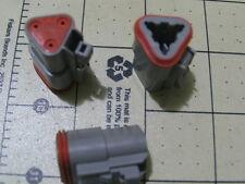 6 AMPHENOL AT Connector 3-Way Plugs (WAYTEK #38172) (DEUTSCH #DT06-3S)