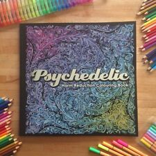 Psychedelic Colouring Book NEW Adult Coloring beautiful cannabis acid trippy