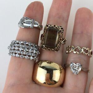 Vintage Estate 925 Sterling Silver Ring LOT CZ Gemstone FAS BJG CAROLYN POLLACK