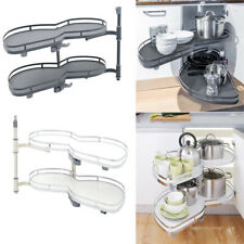 Kitchen Cabinet Cupboard Corner Pull Out Shelf Carousel Storage Rack Soft Close