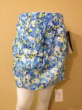 Lapis Women's Blue Floral Skirt - Size Medium - NWT