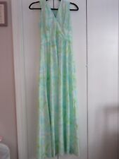 Discounted Pretty Vintage Green and Blue Pattern Dress