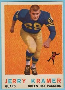 1959 TOPPS FOOTBALL HIGH GRADE SET BREAK #116 JERRY KRAMER     NM