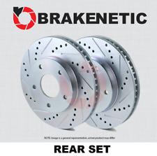 [REAR SET] BRAKENETIC SPORT Drilled Slotted Brake Disc Rotors [JCW] BNS34113.DS
