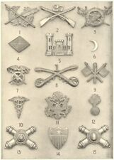 INSIGNIA US ARMY. Inf.;Pay;Engineers;Cav.;Signal;Medical;Ordnance;Artillery 1907