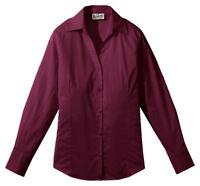 Edwards Garment Women's V Neck Long Sleeve Wrinkle Resistant Blouse Shirt. 5034