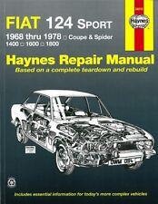 Haynes Handbuch: FIAT 124 Sport, Coupé&Spider Reparaturanleitung/Reparatur-Buch