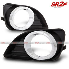 Fog Lamp Lights Chrome Trim Bezel Covers Black ABS fits for 10-11 Toyota Camry