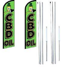 Cbd Öl Windless Flagge Mit Hybrid Stange Set - Pack 2