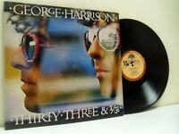 GEORGE HARRISON thirty three & 1/3 LP EX/EX- K 56319 with lyric inner, vinyl, uk