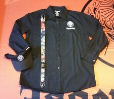 Jägermeister Men's Mechanic Dress Shirt, Visor, and Lanyard - Size Large
