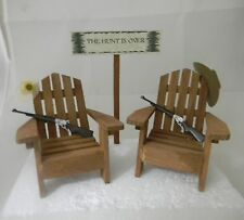 Wedding Reception Party ~ Country Western Hunter Adirondack Chairs Cake Topper