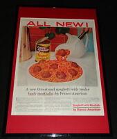 1955 Franco American Spaghetti Framed 11x17 ORIGINAL Advertising Display B