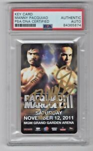 MGM Pacquiao Marquez III 3 Manny Pacquiao Signed Auto Room Key Card PSA/DNA