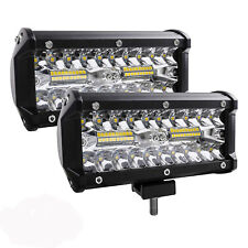 7inch LED Work Light Bar 240W 24000LM Spot Flood Off Road SUV Jeep Driving Lamp