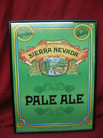 Vintage Sierra Nevada Pale Ale Framed Bar Sign