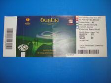 2011 Europa League Final FC Porto Braga Portugal Eintrittskarte Ticket Dublin