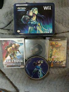 Video Games Lot Metroid Prime Custom Set Trilogy ( GameCube Wii ) With Bonus !!!