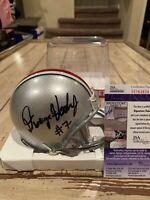 Dwayne Haskins Autographed/Signed Mini Helmet JSA COA Ohio St Buckeyes State