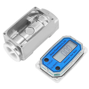 1inch Digital Turbine Flow Meter Gas Oil Fuel Flowmeter Pump For Diesel Kerosene