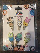 Disney pins HKDL Tsum Tsum Ice Cream Cone 6 pin Booster set.